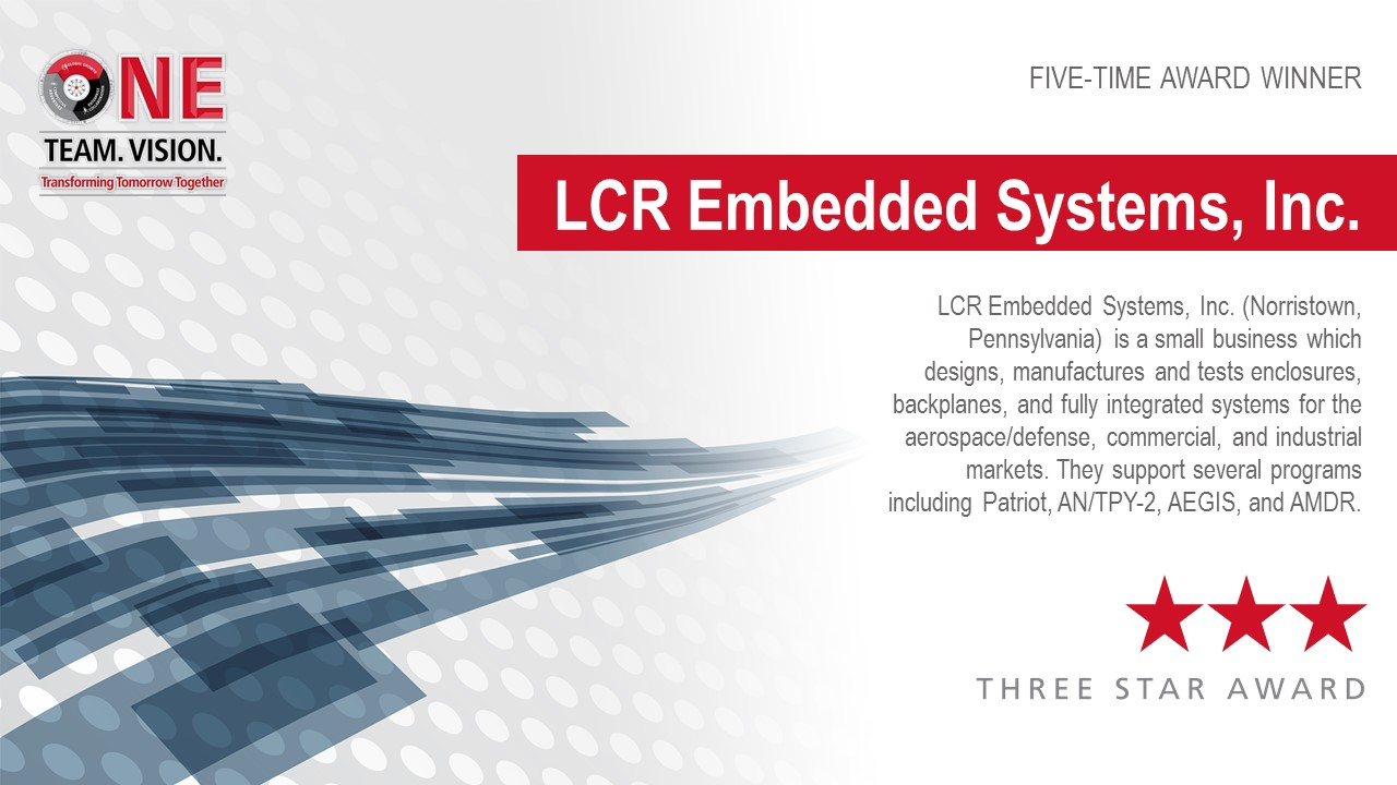 LCR Embedded Systems Honored with Three-Star Supplier Award